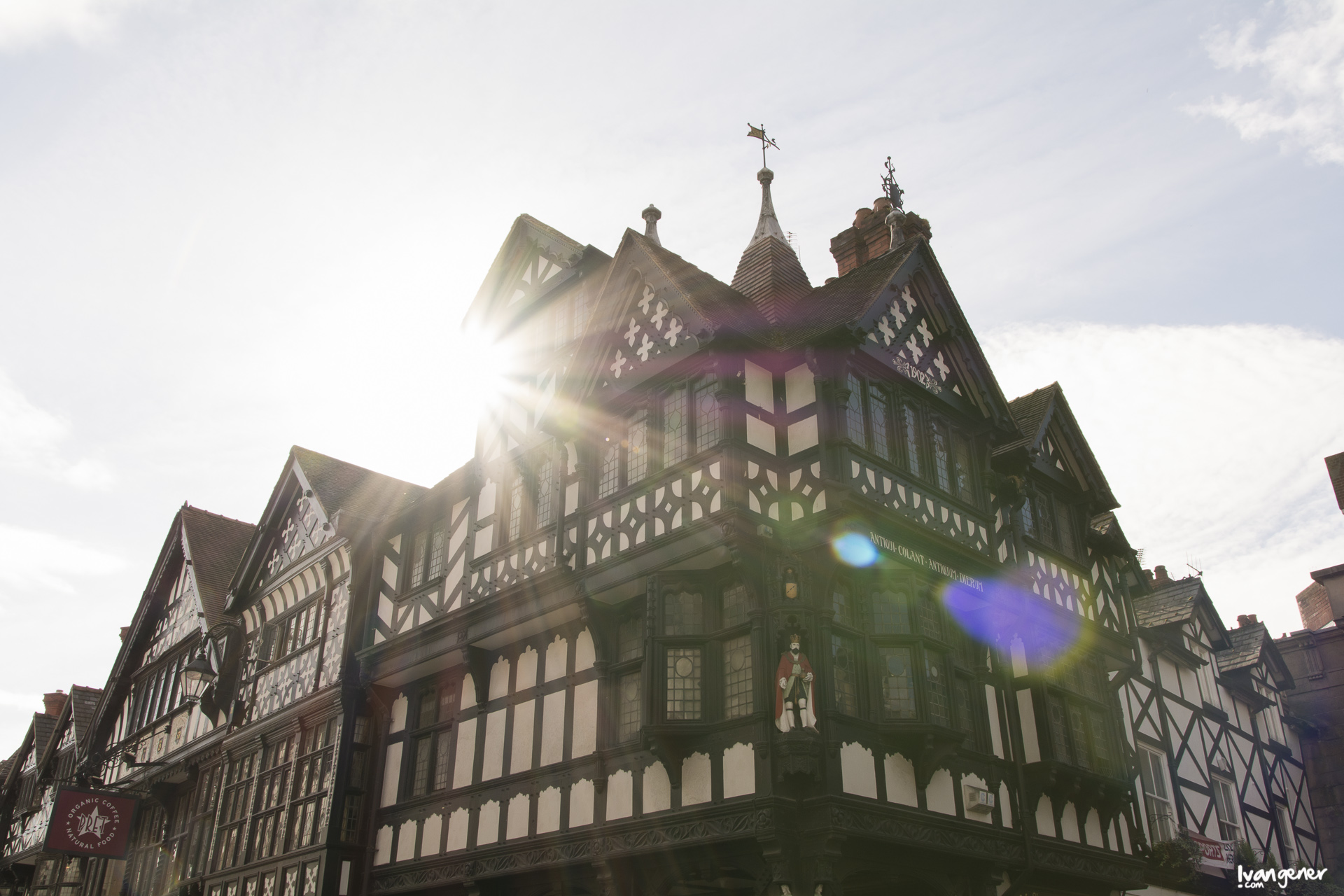 "03/10/2014 – City centre, Chester. ""Early-morning light""."