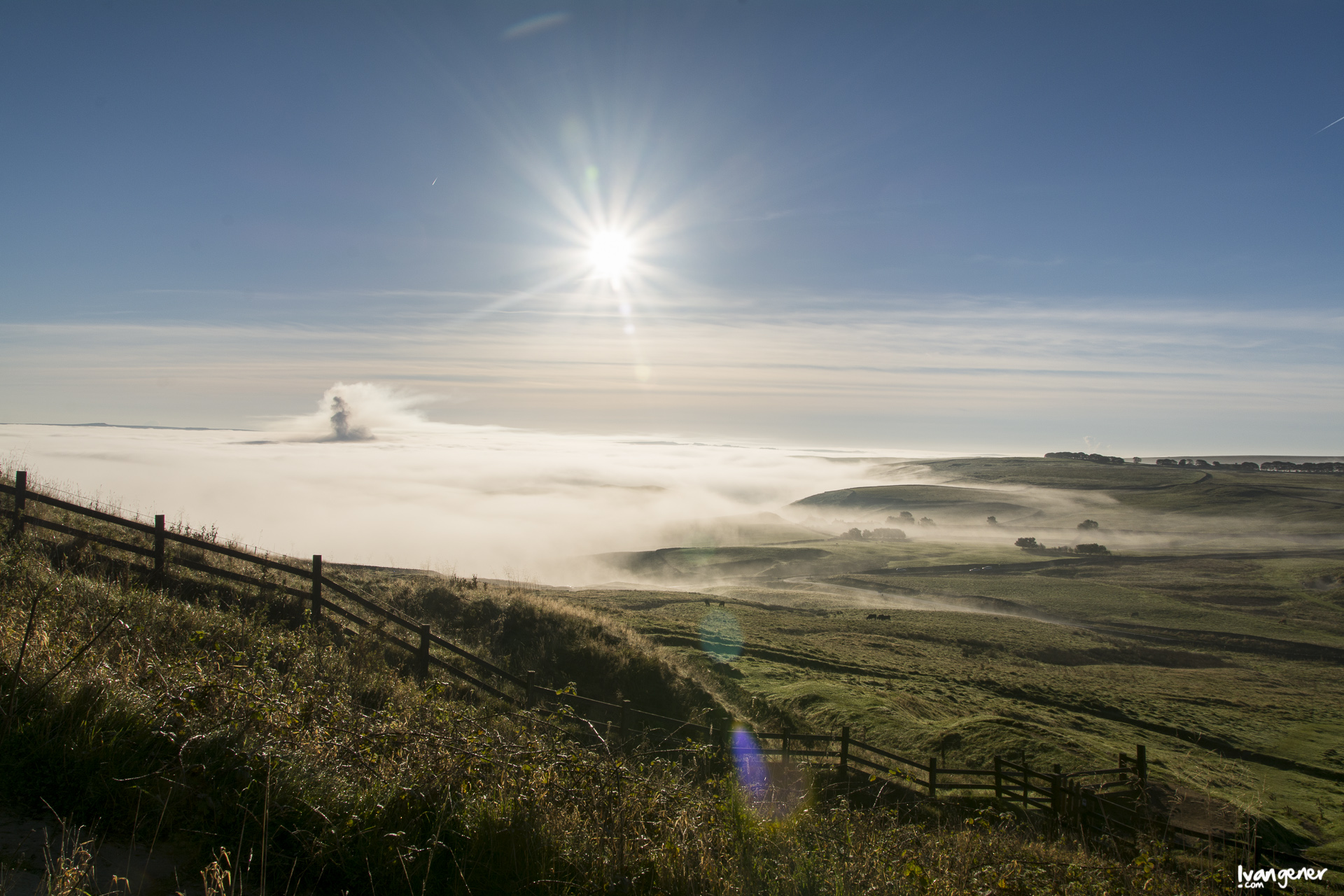 "12/10/2014 – Peak District, UK. ""Sea of fog""."
