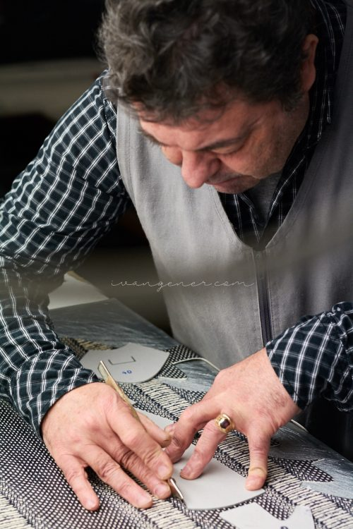 leather artisan manufacturing footwear at his atelier